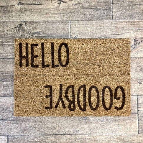 Personalised Entry Exit Message Doormat