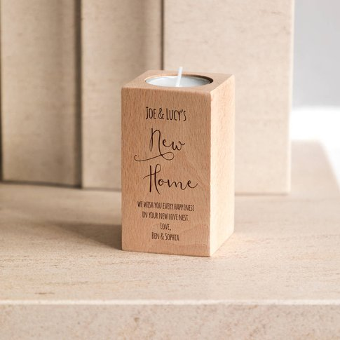 Personalised New Home Candle Holder Gift