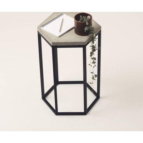 Hexagonal Concrete Side Table