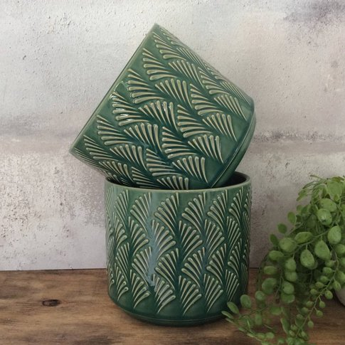 Wave Design Plant Pot
