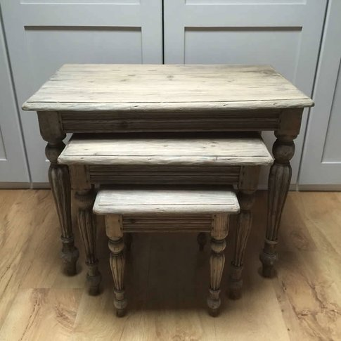 Reclaimed Old Aged Pine Nest Of Tables