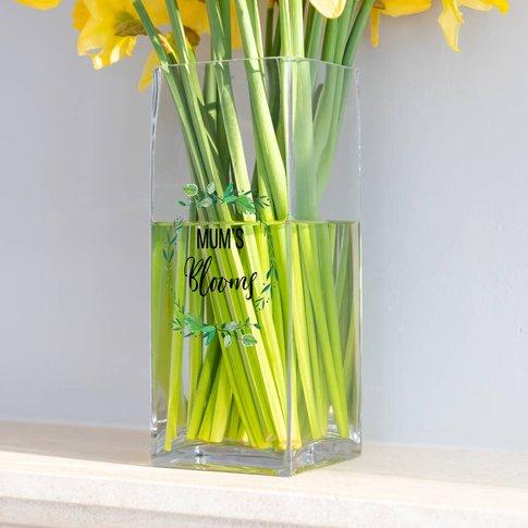 Personalised Blooms Glass Vase