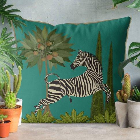 Dancing Zebra, Animalia Cushion, Multi Colours Avail