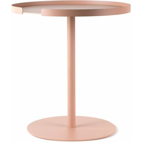 Contemporary Pink Round Side Table