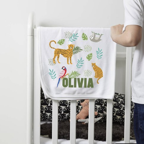 Personalised 'Jungle' Blanket