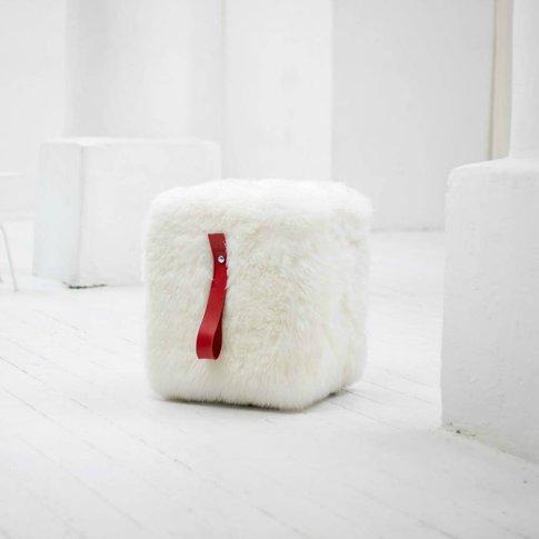 Sheepskin Cube Pouffe