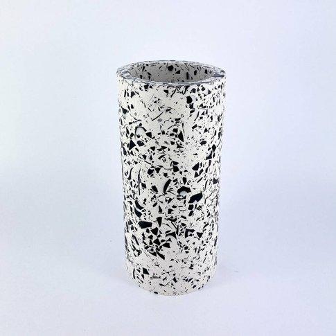 White Terrazzo Vase