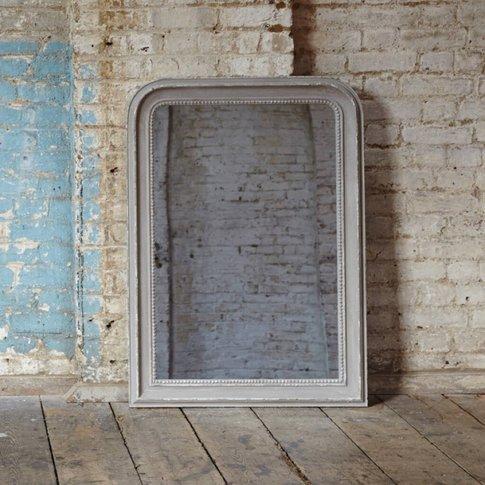 Grey Beaded Mirror