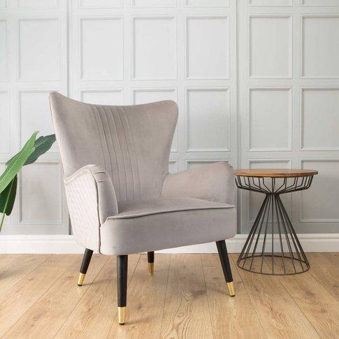 Kingston Velvet Armchair Grey Or Rust