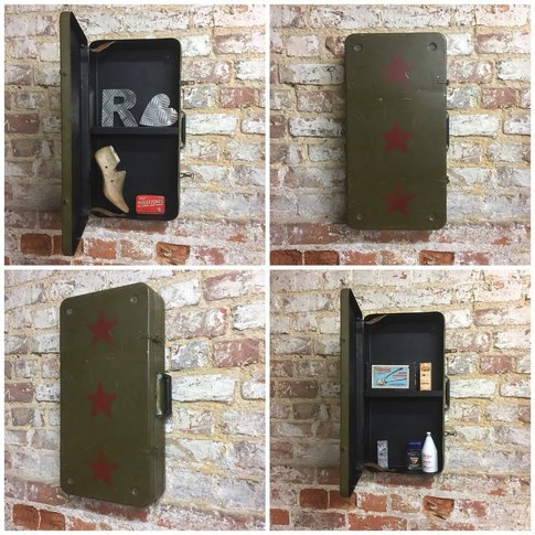 Upcycled Vintage Suitcase Bathroom Cabinet