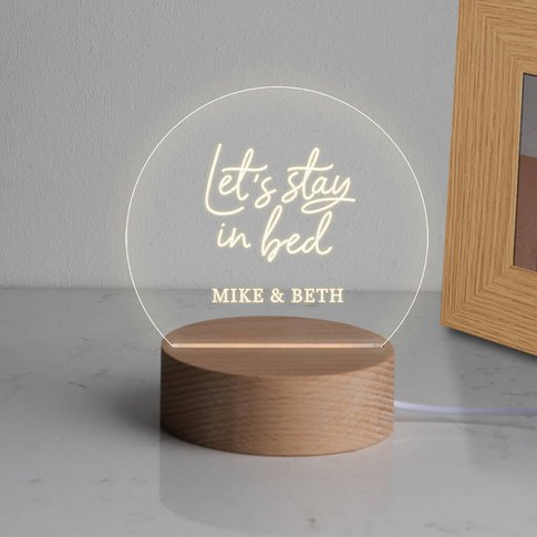 Personalised Mini Desk Lamp For Couples