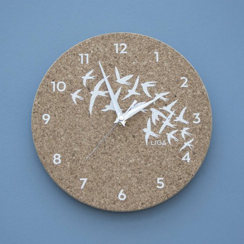 Cork Swallow Clock