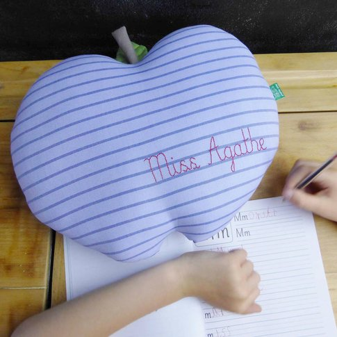 Personalised Teacher Gift Apple Cushion