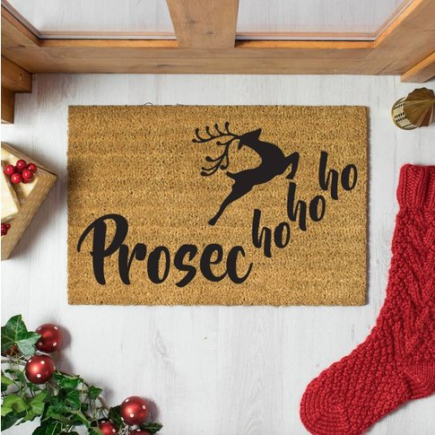 Prosec Ho Ho Ho Christmas Doormat