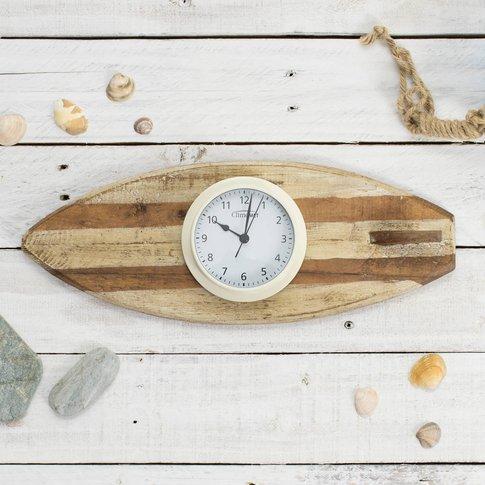 'Surf's Up' Clock Or Tide Clock Set, Grey/Cream/Rose