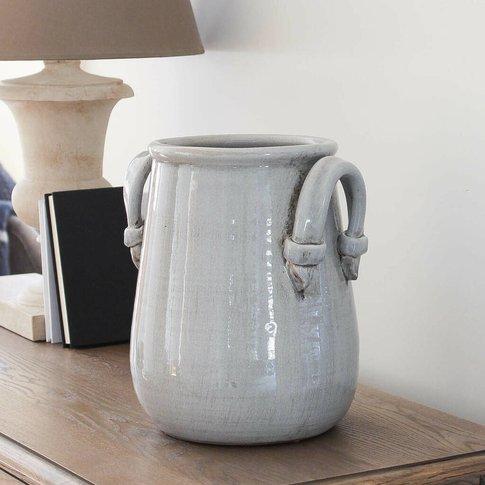 Large Grey Decorative Vase