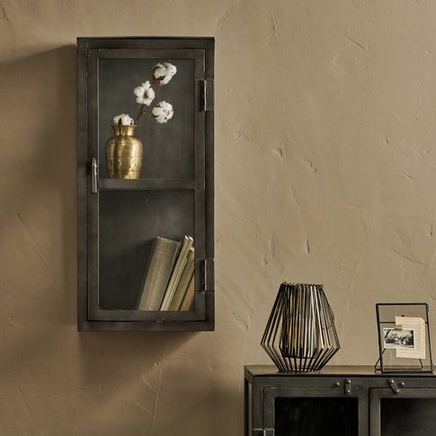 Iron And Glass Wall Hung Cabinet