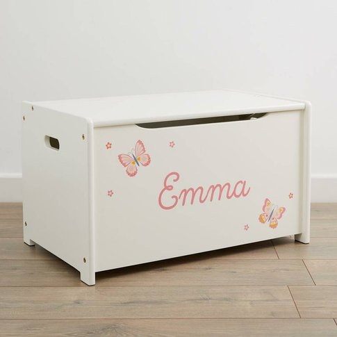 Personalised Butterfly Design Toy Box