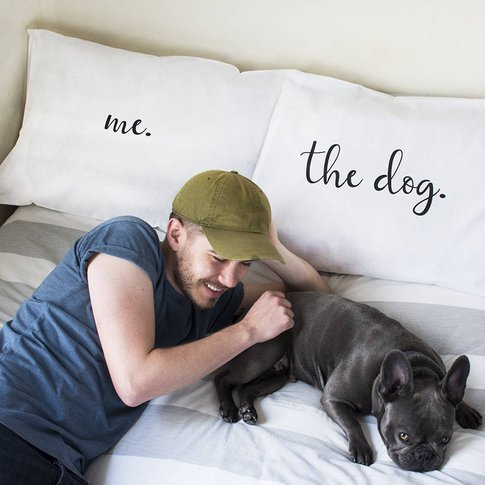 The Dog And Me Pillow Case Set