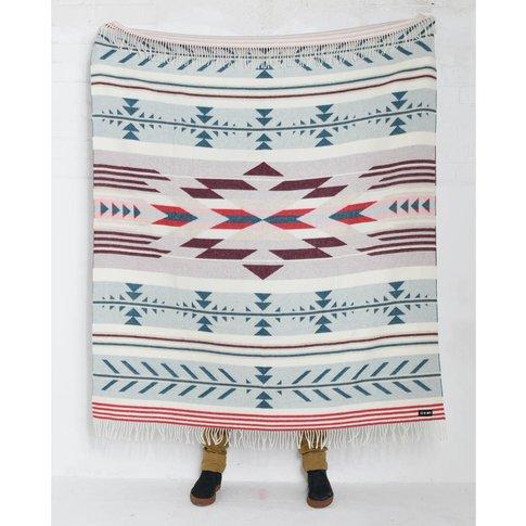 Nava Say Nava Hand Finished Woven Wool Blanket Cream