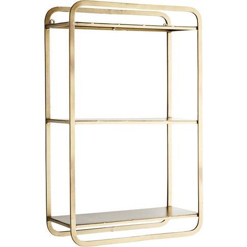 Gold Rectangular Shelving Unit