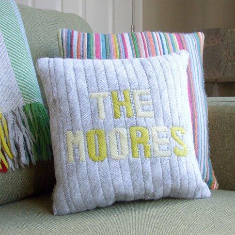 Personalised Name Wool Cushion