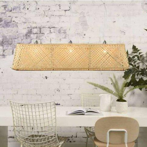 Large Bamboo Shade Pendant Light