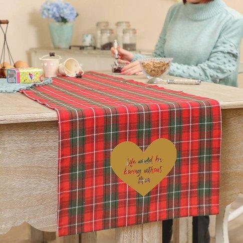 Personalised Traditional Tartan Table Runner