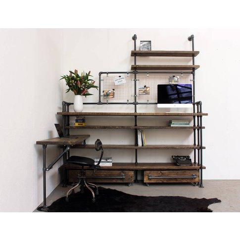 Zack Reclaimed Scaffolding Board Double Desk
