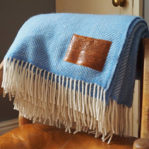 Personalised Wool Throw Engraved With Corinthians 13...