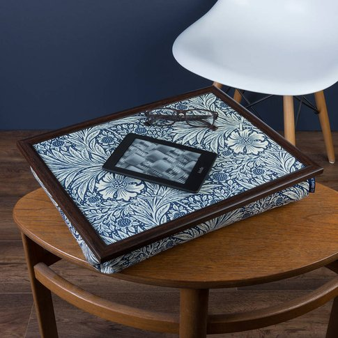 Bean Bag Lap Tray In William Morris Marigold Indigo
