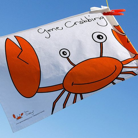 Gone Crabbing Tea Towel