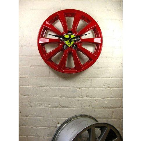Real Alloy Wheel Ferrari Clock