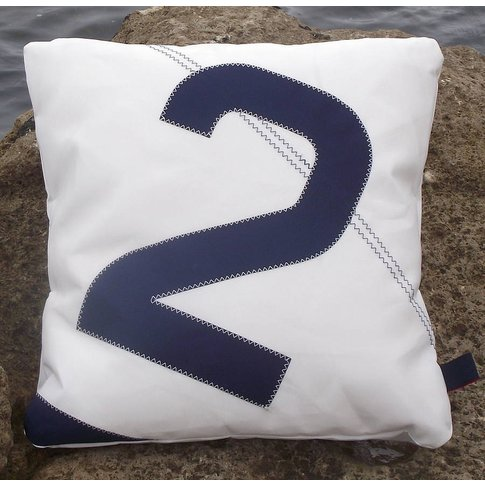Personalised Sail Number/Letter Cushions, Red/Navy B...