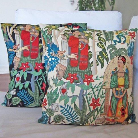 Frida Kahlo Cushion Cover, Cream/Black
