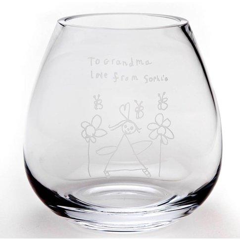 Personalised Engraved Glass Flower Vase
