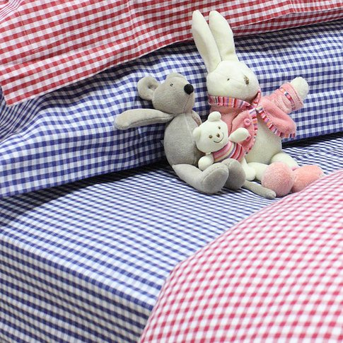 Gingham Fitted Sheet