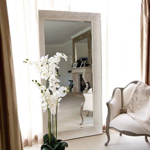 Deep Framed White Mirror