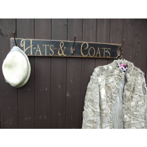 Vintage Style Hat And Coat Hook Board