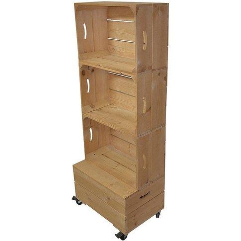 Apple Crate Shelving Storage Three High