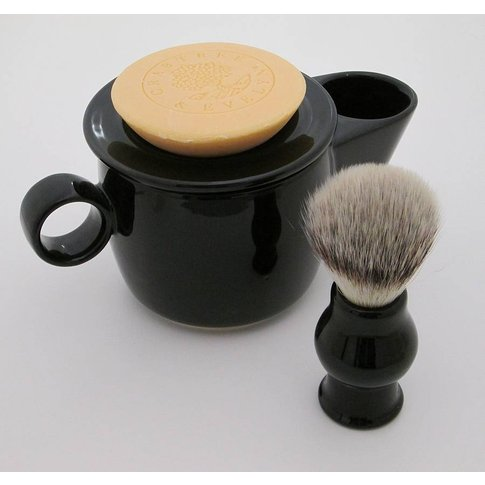 Shaving Scuttle, Soap And Soap Dish