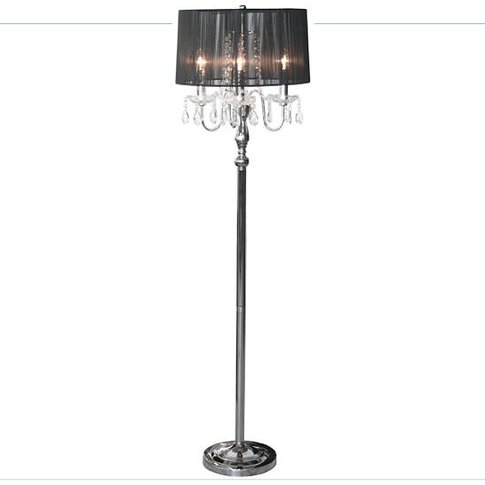 Art Deco Style Floor Lamp, Black/Gold