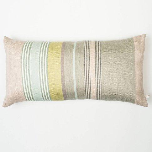 Mistley Stripe Woven Cushion Cover, Grey