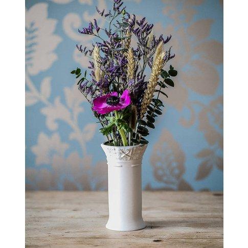 Porcelain Bud Vase With Fabric Design
