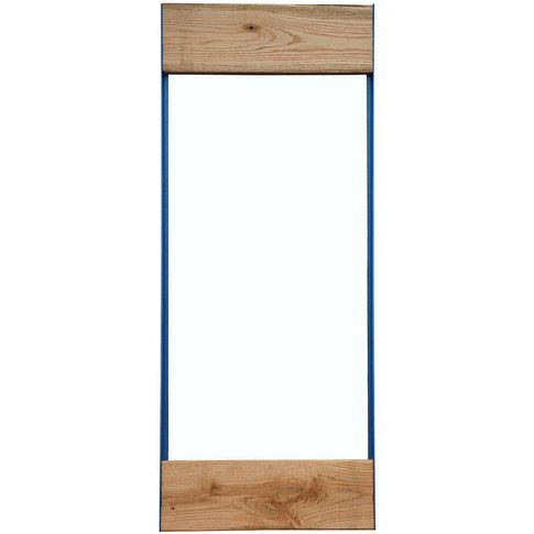 Oak And Iron Full Length Mirror, White/Black/Grey