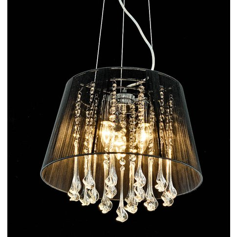 Shaded Crystal Drop Chandelier