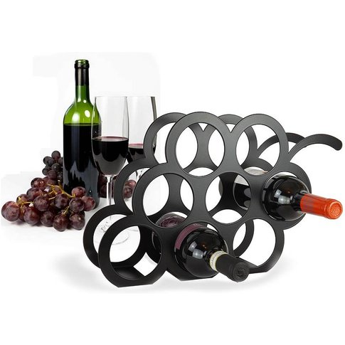 Grape Wine Rack, Black/Ivory