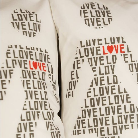 Love Stick Pillowcases, Charcoal/Red/Olive