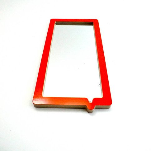 Drip Mirror, Orange/Grey/Electric Blue