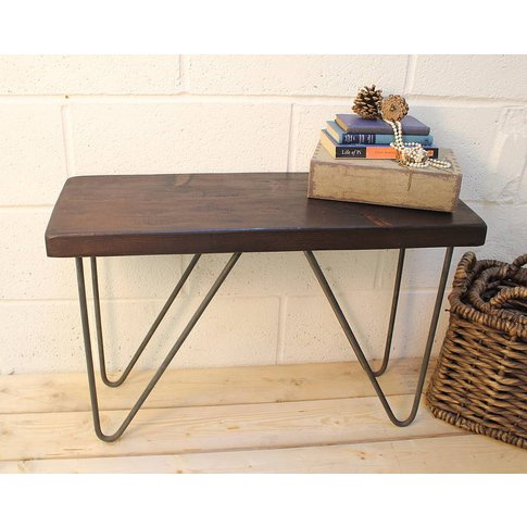 Industrial Style Wood And Steel Bench